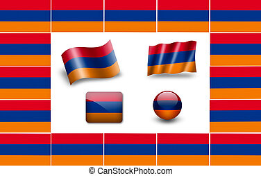 flag of Armenia. icon set