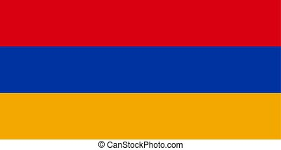 Flag of Armenia in official colors and proportions, vector image.