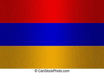 Flag of Armenia on stone