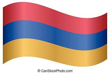 Flag of Armenia waving