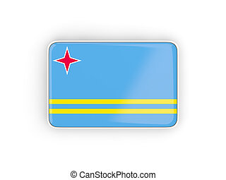 Flag of aruba, rectangular icon