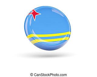 Flag of aruba. Round icon