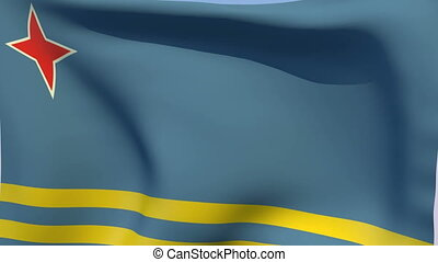 Flag of Aruba - Flags of the world collection - Aruba