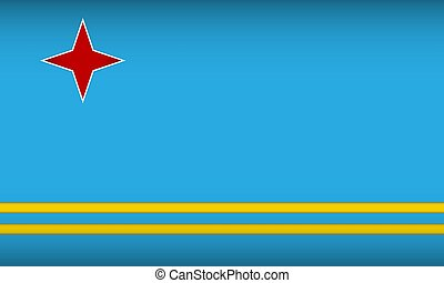 Flag of Aruba. Vector illustration.