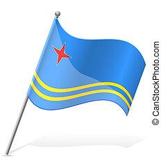 flag of Aruba vector illustration