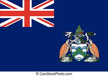 Flag of Ascension Island, Canada. Vector Format