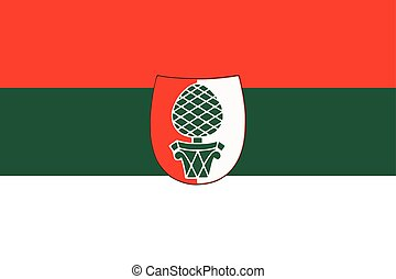 Flag of Augsburg, Germany. Vector Format