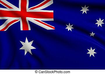 Flag of Australia - 3d illustration flag of Australia