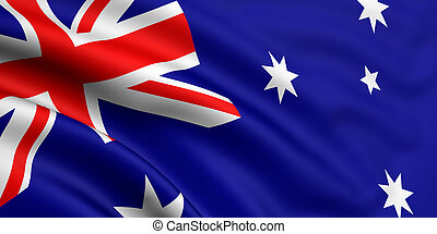 Flag Of Australia - 3d rendered and waving flag of australia