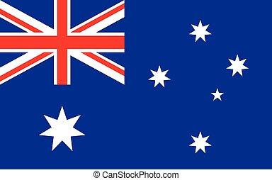 Flag of Australia. Australian national flag vector illustration