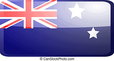 Flag of Australia button