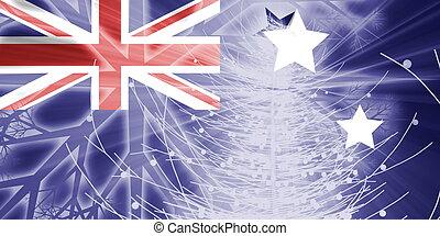 Flag of Australia christmas holidays