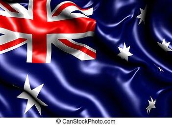Flag of Australia. Close up.