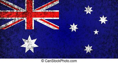 Flag of Australia. - Flag of Australia in grunge style.