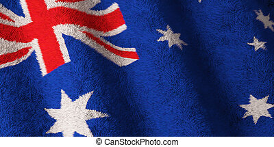 Flag of Australia - Fluffy