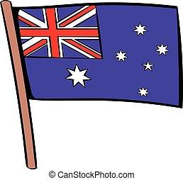 Flag of Australia icon cartoon