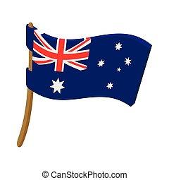 Flag of Australia icon, cartoon style