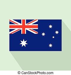 Flag of Australia icon, flat style