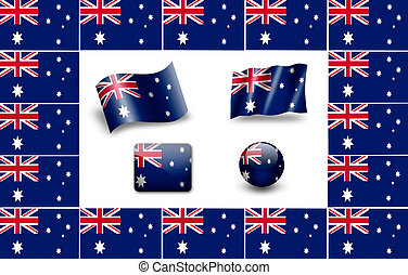 flag of Australia. icon set