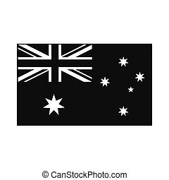 Flag of Australia icon, simple style