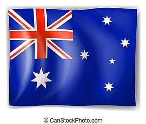 Flag of Australia - Illustration of the flag of Australia on...