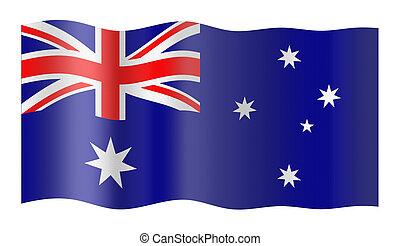 Flag of Australia. Illustration over white background