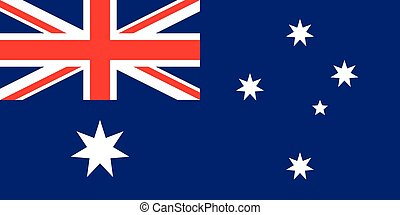 Flag of Australia in correct proportions and colors