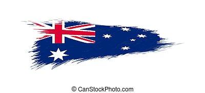 Flag of Australia in grunge brush stroke.