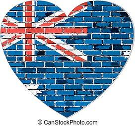 Flag of Australia in heart shape