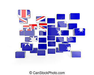 Flag of australia, mosaic background