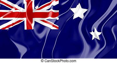 Flag of Australia, national country symbol illustration
