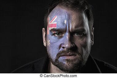 Flag of Australia on face