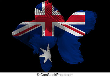 Flag of Australia on goldfish