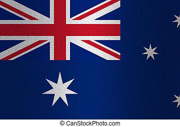 Flag of Australia on stone