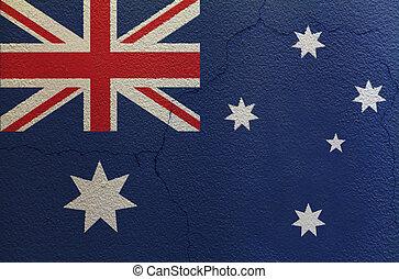Flag of Australia on the wall
