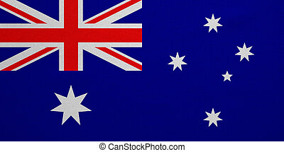 Flag of Australia real detailed fabric texture