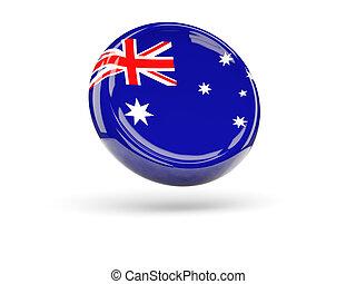 Flag of australia. Round icon