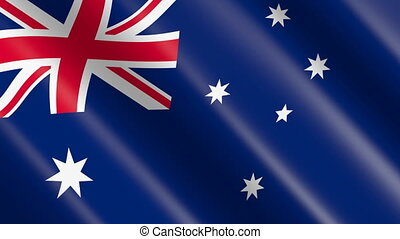 Flag of Australia (seamless loop) - great for topics like...