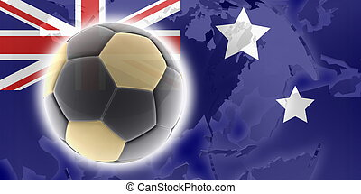 Flag of Australia soccer