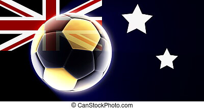 Flag of Australia soccer