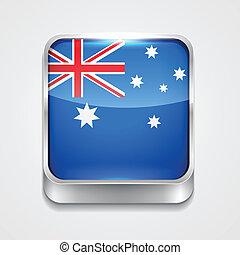 flag of australia - vector 3d style flag icon of australia