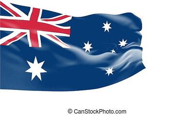 Flag of Australia - Flag of the Australia waving in the...