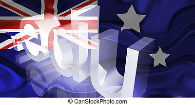 Flag of Australia wavy education