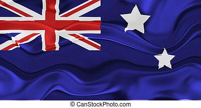 Flag of Australia wavy