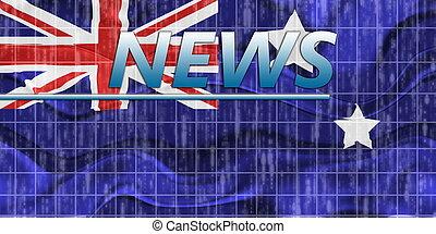 Flag of Australia wavy news