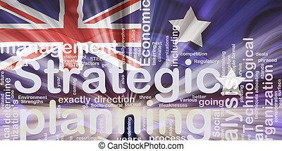Flag of Australia wavy planning