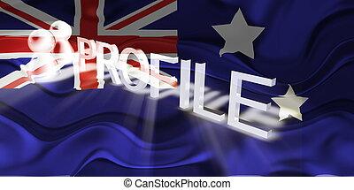 Flag of Australia wavy profile