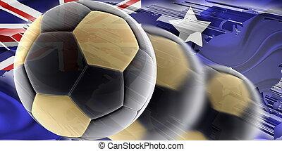 Flag of Australia wavy soccer