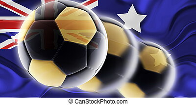 Flag of Australia wavy soccer