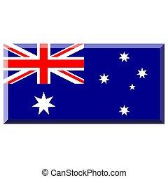 Flag of Australia with 3D border